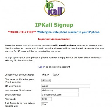 Enregistrement IPKALL.COM